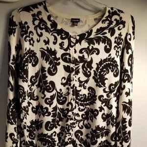 Rafaella/ Ladies Sweater/Black & White